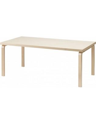 Tisch 83 von Artek, klar lackiert, Platte Birkenfunier