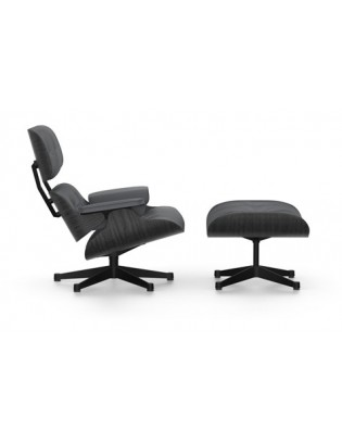 Sessel Lounge Chair & Ottoman Vitra schwarze Version