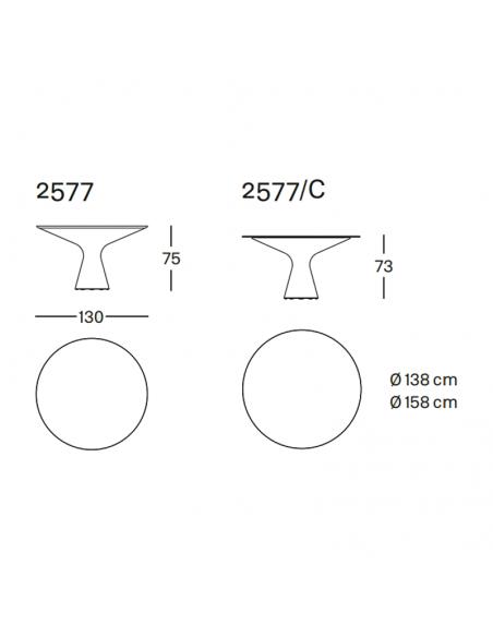 Tisch Blanco von Zanotta