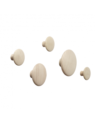 Wandhaken The Dots 5er Set von Muuto