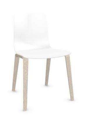 Stuhl Aava Polypropylen von Arper Holzuntergestell