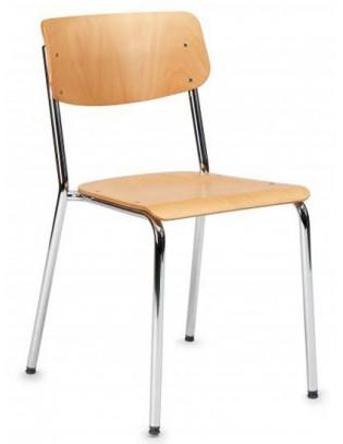 Stuhl Hassenpflug 1255 verchromt von Embru