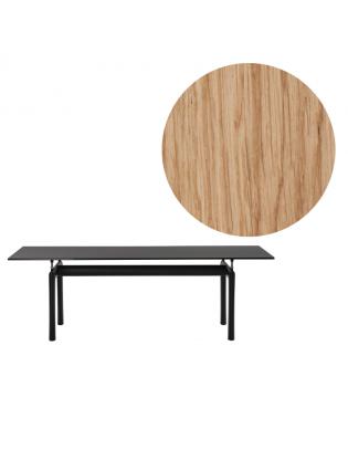Tisch LC6 von Cassina | Holzplatte