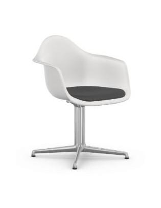 Drehstuhl Eames Plastic Side Chair DAL von Vitra mit Sitzpolster