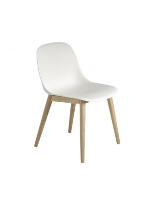 Fiber Side Chair Wood Base Weiss/Eiche