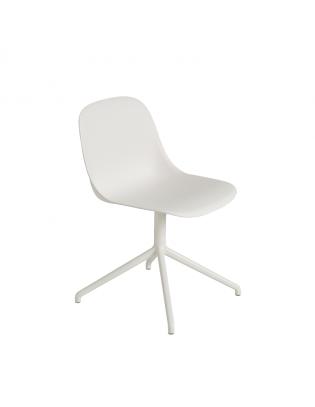 Drehstuhl Fiber Side Chair Swivel Base von Muuto Weiss