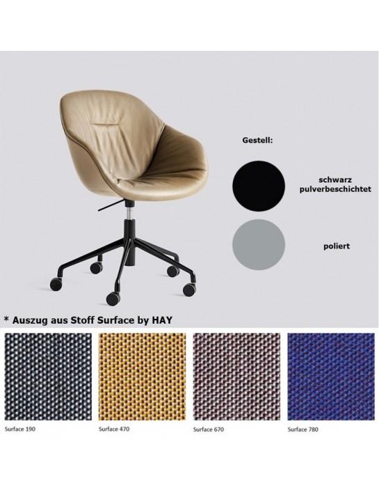 Stuhl About a Chair AAC153 Soft mit Vollpolsterung von HAY
