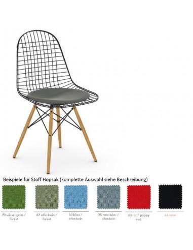 Stuhl Wire Chair DKW-5 von Vitra mit Sitzpolster
