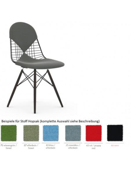Stuhl Wire Chair DKW-2 von Vitra mit Sitz- und Rückenkissen