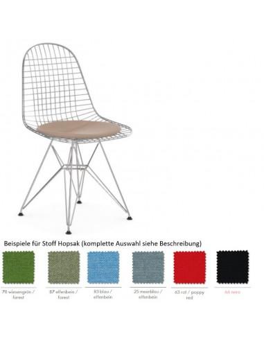 Stuhl Wire Chair DKR-5 von Vitra mit Sitzkissen