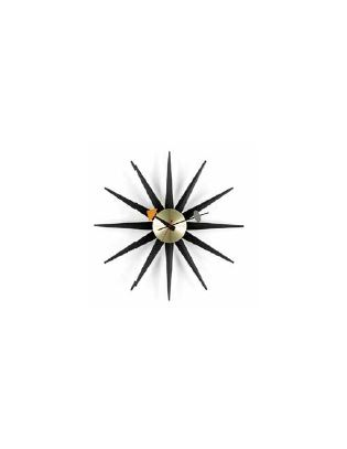 Wanduhr Sunburst Clock Vitra Ø 470 Black Version