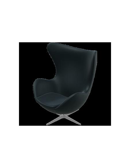 Lounge Chair Das Ei von Fritz Hansen mit Lederbezug
