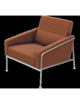 Sessel Serie 3300 von Fritz Hansen mit Stoffbezug