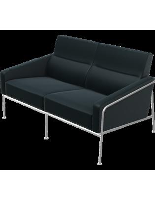 Sofa Serie 3300 von Fritz Hansen mit Lederbezug 2-Sitzer