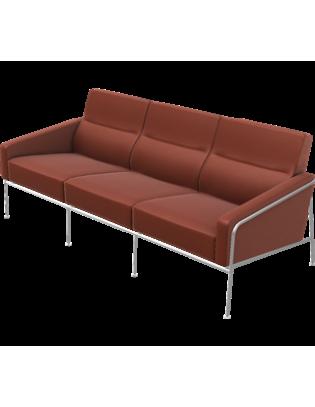 Sofa Serie 3300 von Fritz Hansen mit Lederbezug