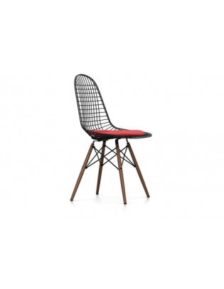 Stuhl Wire Chair DKW-5 Vitra Leder