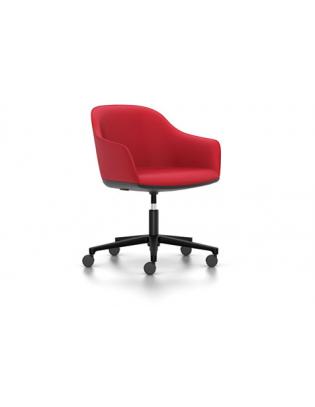 Stuhl Softshell Chair Vitra Fünfstern-Untergestell Moss