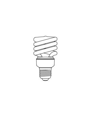 Lightyears Glühbirne E27 SPIRAL 15W