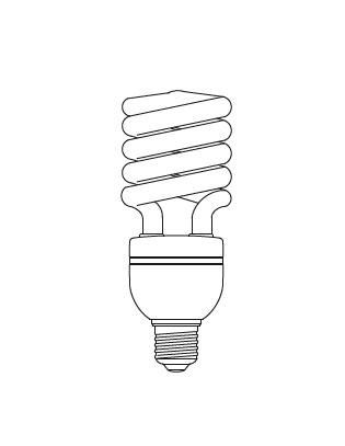 E27 SPIRAL 32 W Lightyears Glühbirne