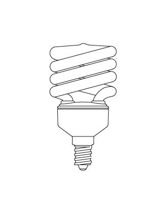 E14 SPIRAL 12W Glühbirne Lightyears