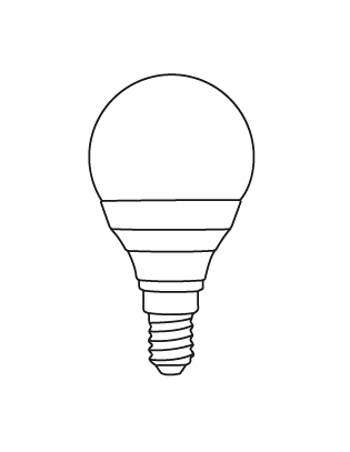 E14 LED P45 5,5-40W Glühbirne Lightyears