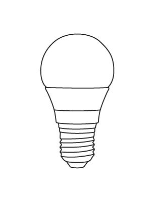 E27 LED A55 6,5-40W Glühbirne Lightyears