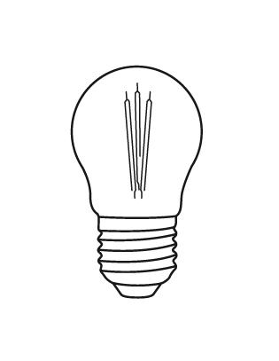 E27 PROXIMA 4,5-40W Glühbirne Lightyears