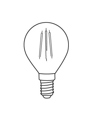 E14 PROXIMA 3-25W Glühbirne von Lightyears