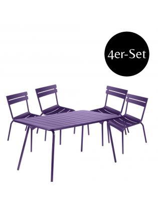 4er-Set Stuhl Luxembourg mit passendem Tisch Fermob