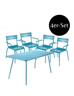 4er-Set Sessel Luxembourg mit passendem Tisch Fermob