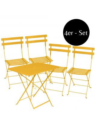 4er-Set Klappstuhl Bistro mit Tisch Fermob