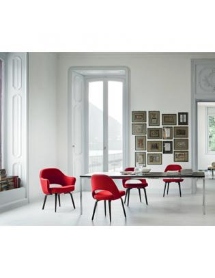 Conference Stuhl Saarinen Knoll International-Gestell Schwarz lackiert