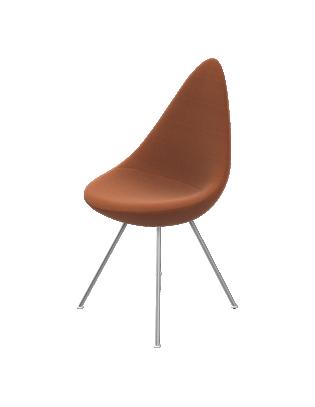 Stuhl Drop mit Stoffbezug von Fritz Hansen